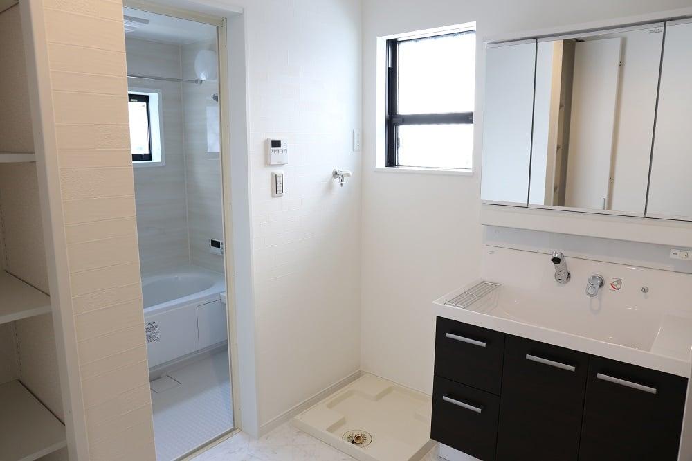 Newly built house bathroom