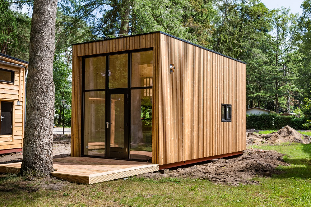 Dutch wooden tiny houses
